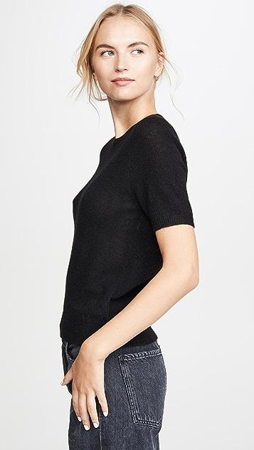 White + Warren 开司米羊绒基本款合身毛衣 T 恤