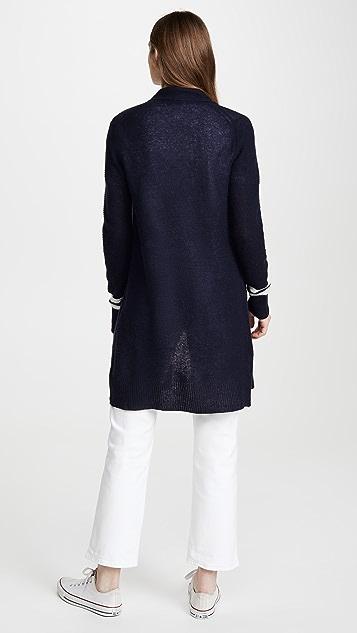 White + Warren Textured Cashmere Cardigan
