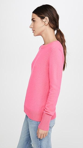 White + Warren Кашемировый свитер Essential с округлым вырезом