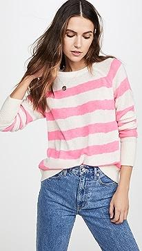 Printed Stripe Essential Cashmere Sweatshirt