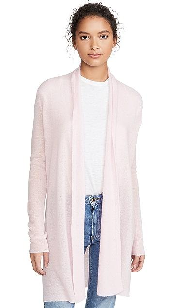 White + Warren Essential 梯形开司米羊绒开襟衫