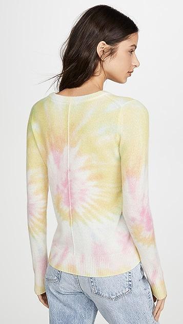 White + Warren Tie Dye Essential Cashmere Crew Neck Sweater