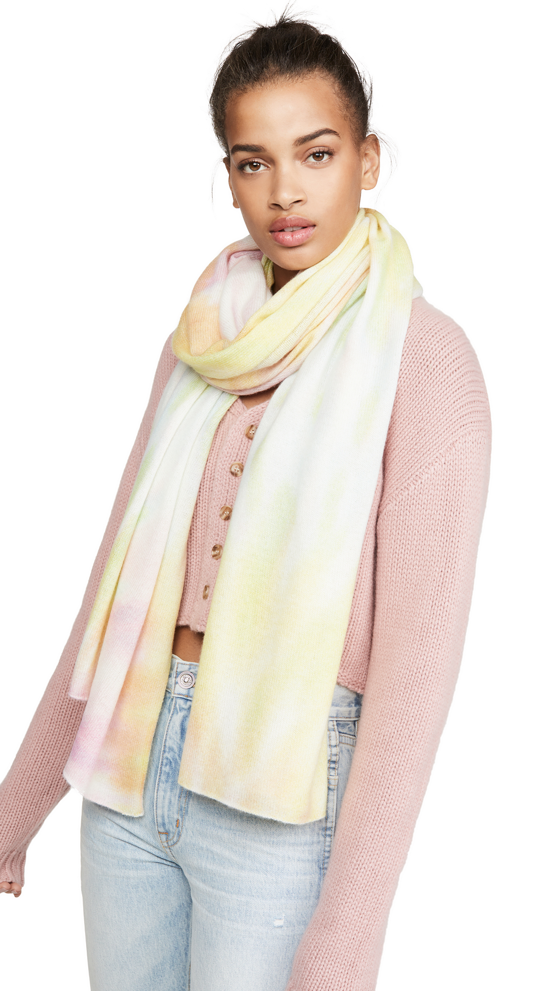 White + Warren Tie Dye Mini Cashmere Travel Wrap
