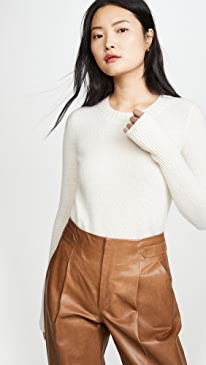 Cashmere Slim Thermal Crew with Thumbholes