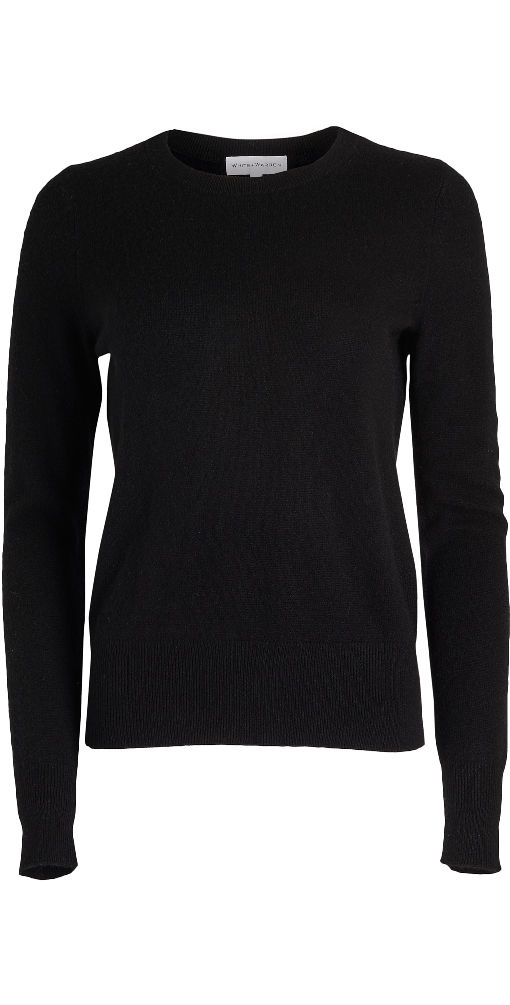 White + Warren Cashmere Long Sleeve Crew Neck Sweater