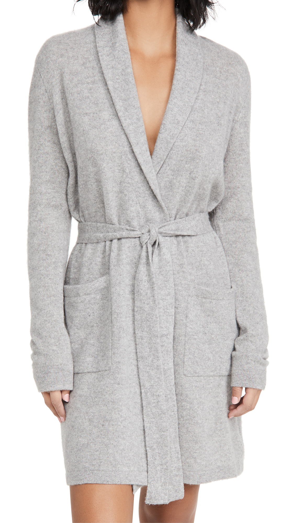 White + Warren Cashmere Short Robe