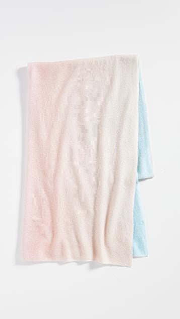 White + Warren Cashmere Ombre Painted Mini Travel Wrap