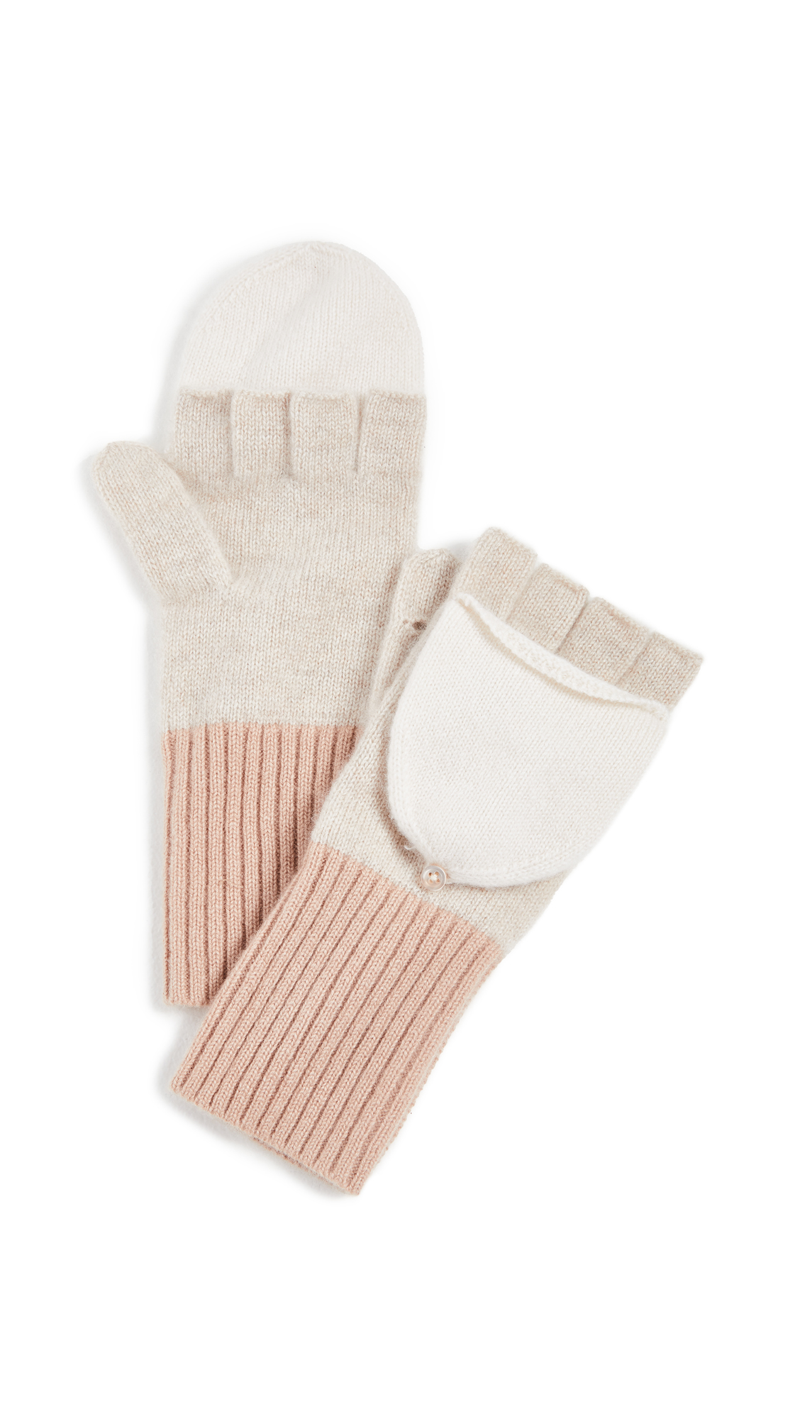 White + Warren Pop Top Cashmere Gloves
