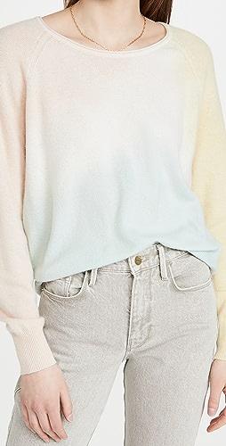 White + Warren - Tri-Dye Cashmere Sweatshirt