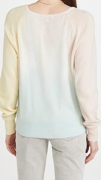 White + Warren 三重染色开司米羊绒运动衫