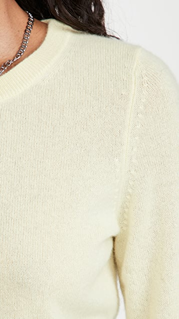 White + Warren 开司米羊绒圆领毛衣