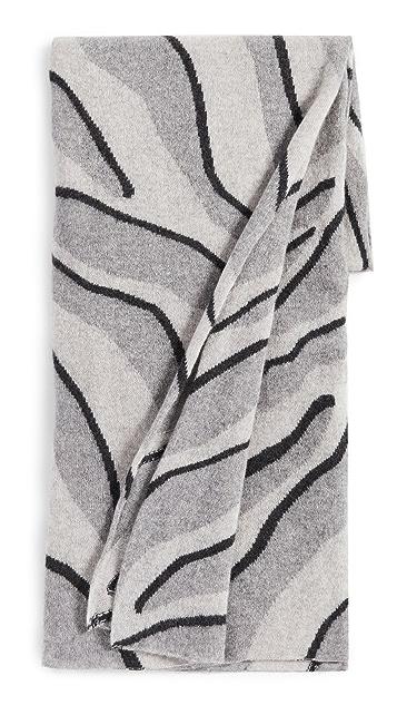 White + Warren Cashmere Zebra Intarsia Mini Travel Wrap