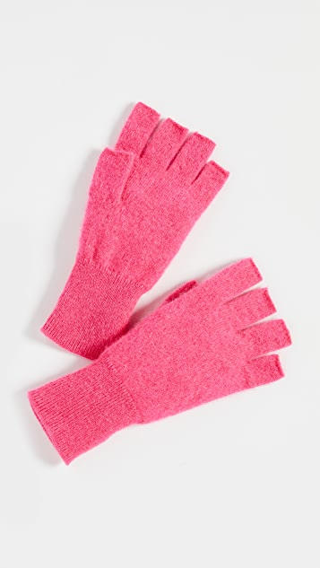 White + Warren Cashmere Fingerless Gloves