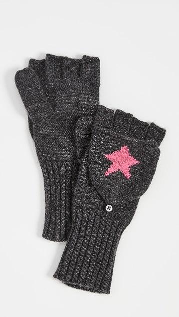 White + Warren Cashmere Star Pop Top Gloves