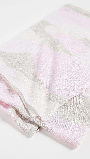 White + Warren Cashmere Camo Intarsia Mini Travel Wrap