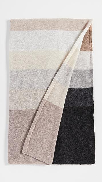 White + Warren Cashmere Striped Mini Travel Wrap
