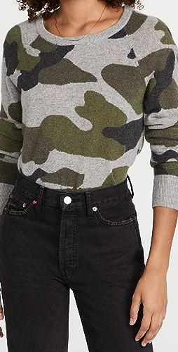 White + Warren - Camo Intarsia Cashmere Sweater