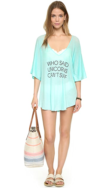 Wildfox Unicorn Surfer Tahiti Tunic