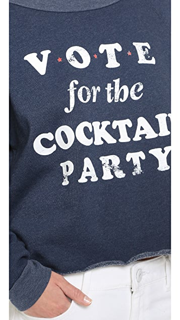 Wildfox Cocktail Party Cropped Sweatshirt