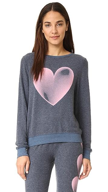 Wildfox Faded Love Baggy Beach Sweatshirt