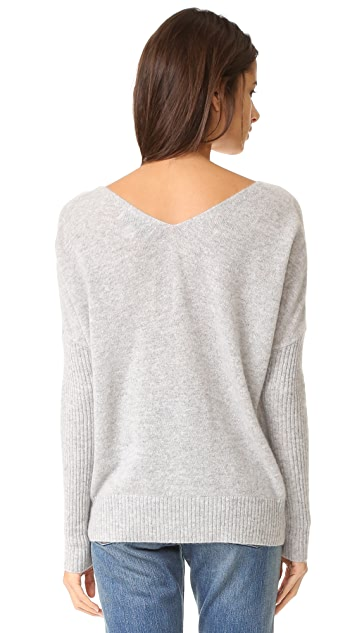 Wildfox XO Embroidery Cashmere Sweater