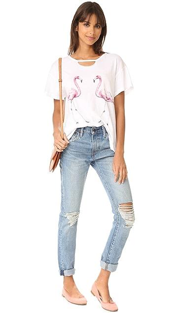 Wildfox Two Flamingos Tee