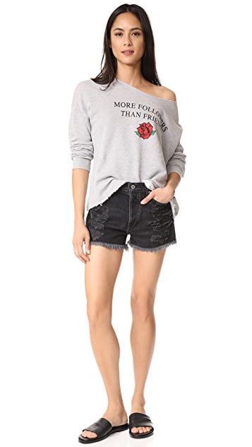 Wildfox More Follower Than Friends Sweatshirt