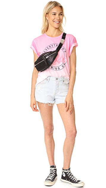 Wildfox Everything's Coming Up Rose Tee
