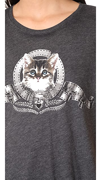 Wildfox Silver Screen Kitten Tee