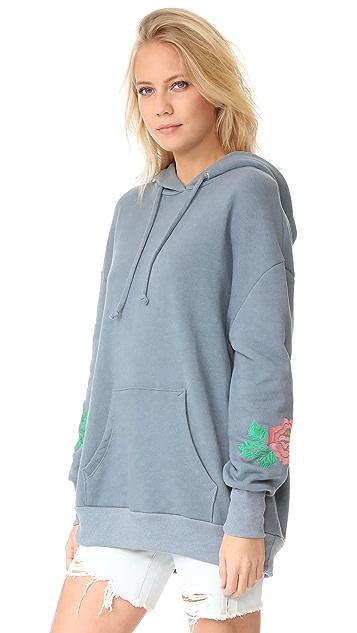 Wildfox Rose Embroidered Sweatshirt