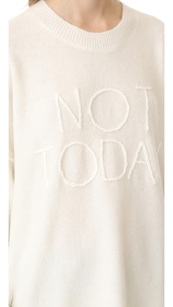 Wildfox Not Today Omen Sweater