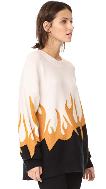 Wildfox Fired Up Hex Sweater