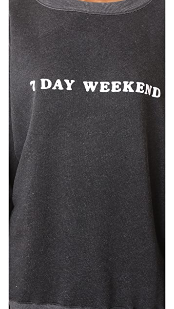 Wildfox 7 Day Weekend Roadtrip Sweatshirt