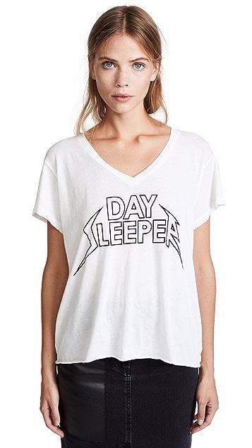 Wildfox Day Sleeper Romeo V Neck Tee