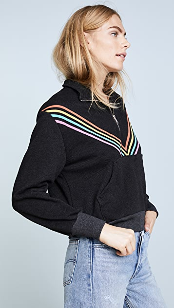 Wildfox '80s Track Star Soto Warm Up Sweatshirt