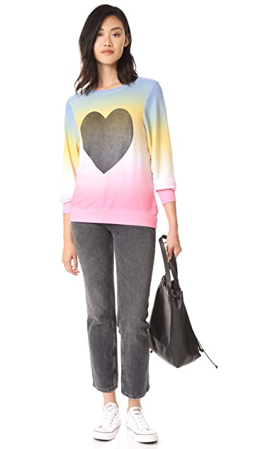 Wildfox Perfect Heart Baggy Sweatshirt