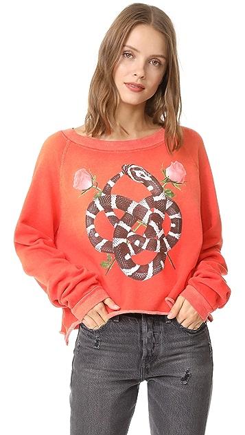 Wildfox Snake Charmer Monte Crop Sweatshirt