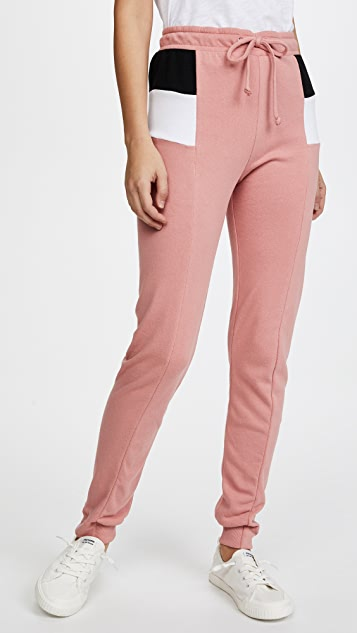 Wildfox Sport Raina Joggers - Mulled Rose Multi