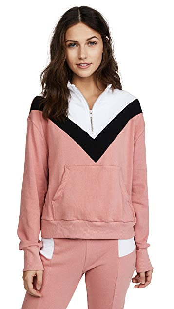 Wildfox Blocked Soto Warm Up Top