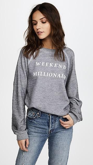 Wildfox Weekend Millionaire Sweater Top