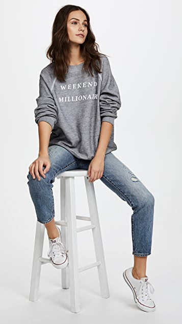 Wildfox Weekend Millionaire Sweater Top