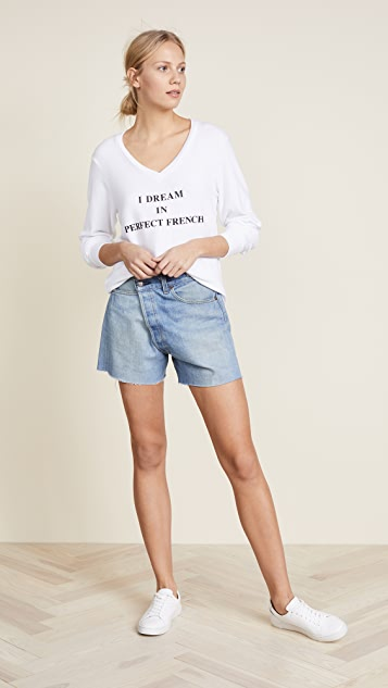 Wildfox Baggy V Neck Sweatshirt