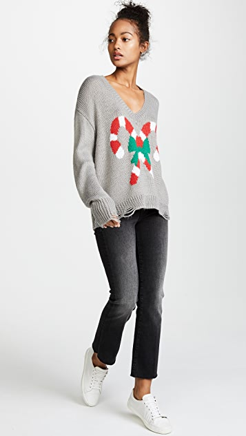Wildfox Candy Cane Clement Sweater
