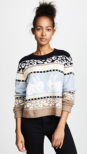 Wildfox Bunny Fair Isle Sweater | SHOPBOP