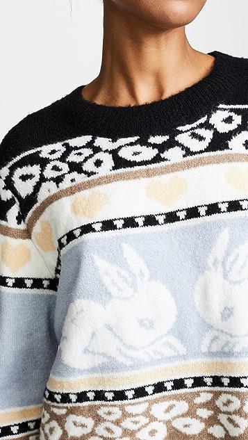 Wildfox Bunny Fair Isle Sweater