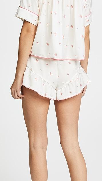 Wildfox Rosebud Wallpaper Fell For You PJ Shorts