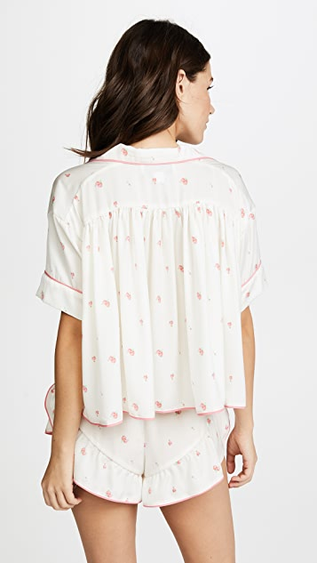 Wildfox Rosebud Wallpaper Fell For You PJ Top