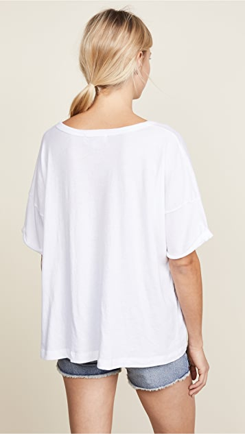 Wildfox Long Stems Lace Up Tee