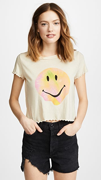 Wildfox Psychedelic Smiley Tee