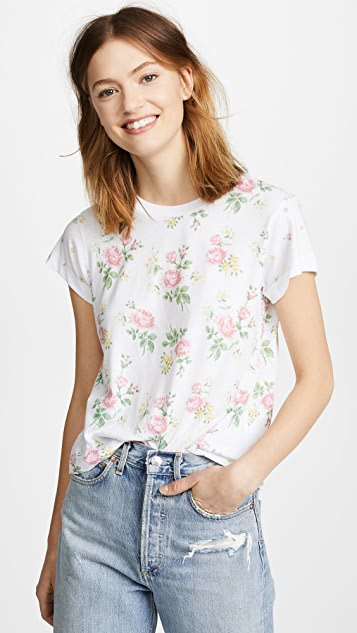 Wildfox Patchwork Floral Tee
